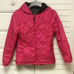 Reversible Faded Glory Medium Weight Quilted Coat